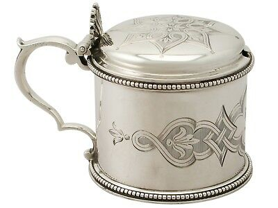 Antique Victorian Sterling Silver Mustard Pot by Edward & John Barnard