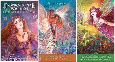 Inspirational Wisdom from Angles and Fairies NEW 44 cards 56pg book F. Munro
