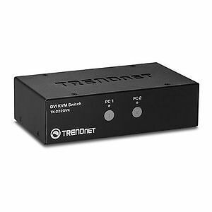 Kit de Switch KVM DVI à 2 ports - TRENDnet - <p>Les Kit de NEUF