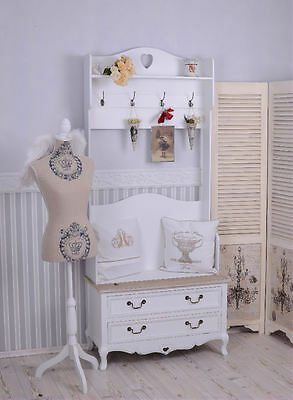 Wardrobe Shabby Chic Stand Dressing Room Coat Stand Shoe Cabinet