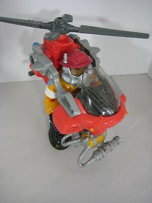 Rescue Heroes Blaze Busters Hal E Copter Flying Fire Fighter Fisher Price