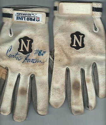 Curtis Duncan Houston Oilers Game Used Signed Autographed Gloves COA Worn