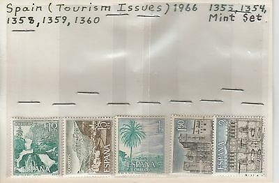 Spain 1966 Tourism Issues MNH stamps