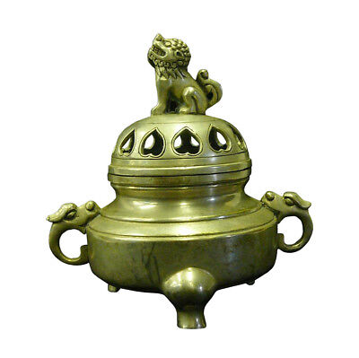 Chinese Simple Silver Pewter Color Round Incense Burner Holdercs697-6 SF