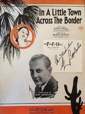 Guy Lombardo- Signature Affixed to Vintage Sheet Music