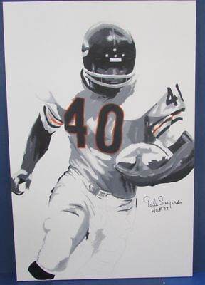 """GALE SAYERS Signed Original Painting Art Work 36""""x24"""" HUGE Canvas  Bears 123218"""