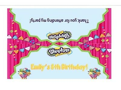 Shopkins Candy Bag Toppers Personalized