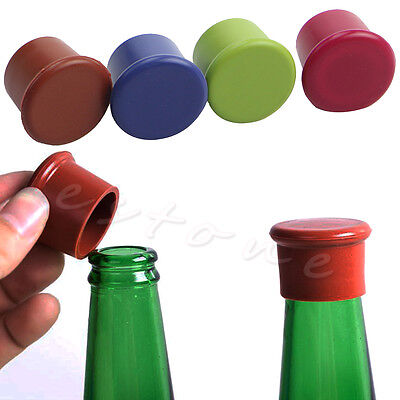 Reusable Silicone Wine Beer Top Bottle Cap Stopper Drink Saver Sealer Useful