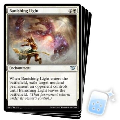 NM//M Commander 2015-4x Banishing Light x4 MTG Magic - U