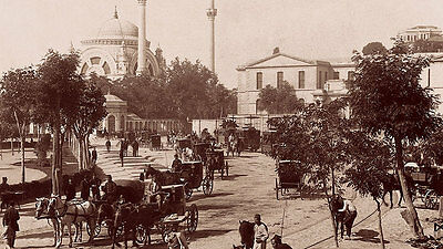 Dolmabahce Mosque and Square Türkei Istanbul Sultan Palast Türme Photo M 002