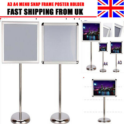 A3 A4 Menu Snap Frame Poster Holder Telescopic Display Sign Floor Standing Board