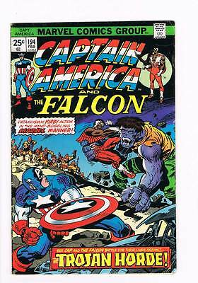 Captain America # 194 The Trojan Horde ! grade 4.5 scarce book !!