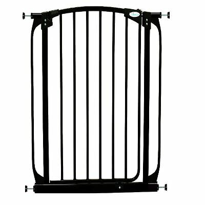 Dreambaby Extra Tall Stair Gate Swing Closed Black Safety Gate Pressure Fix