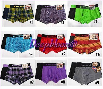 Papi Or Equipo Men Underwear Boxer Brief Stretch Trunks Brazilian Set Pack 2 New