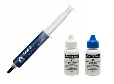 Arctic Cooling MX-2 Thermal Compound 30g Tube & ArctiClean (ACN-60ML) Cleaner