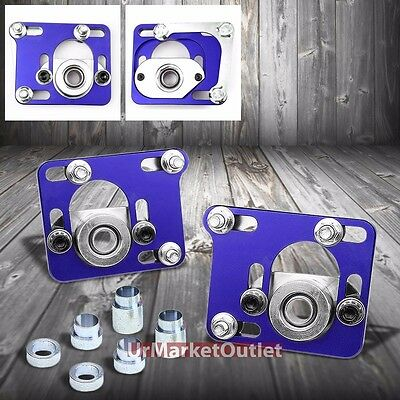 """Blue +/-2.5"""" Adjustable Camber Caster Plates Kit For Ford 94-04 Mustang SN-95"""