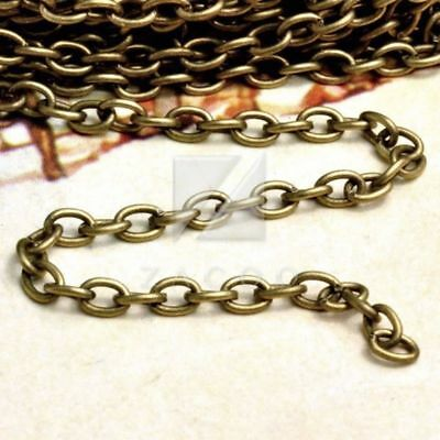 4 metres Antique brass metal cable chain 3x5mm CH0113-4