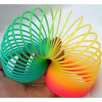 """Colorful Rainbow Plastic Magic Spring Glow-in-the-dark Slinky Childrens Toy 3"""" #"""