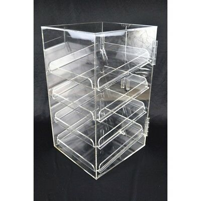 FOUR TRAY 5mm ACRYLIC BAKERY MUFFIN DONUT PASTRIES DISPLAY CABINET