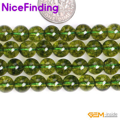 2,4,6,8mm Round Green Peridot Gemstone Beads For Jewellery Making Free Shipping