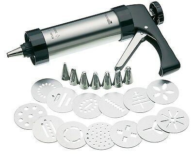 Kitchen Craft Master Class Deluxe 22-Piece Stainless Steel Biscuit and Icing ...