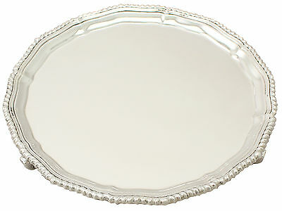 Sterling Silver Salver by Adie Brothers Ltd - Antique George VI