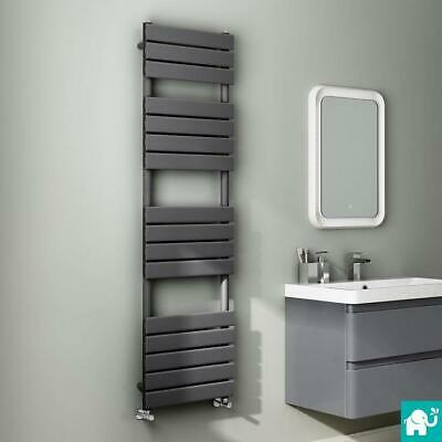 Anthracite Designer Flat Panel Towel Rail Radiator Bathroom Warmer 1600x450 mm