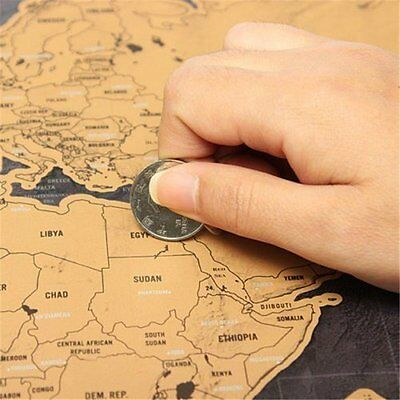 Deluxe Travel Edition World Map Poster Personalized Journal Log Gift