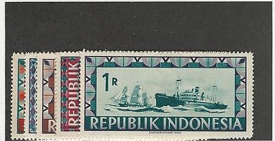 Indonesia, Postage Stamp, #54-58 Mint LH, 1948