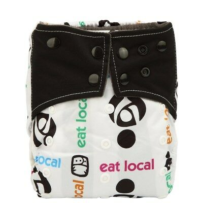 1 Charcoal Bamboo Baby Cloth Diaper Nappy Reusable Washable 2 Gussets Eat Local