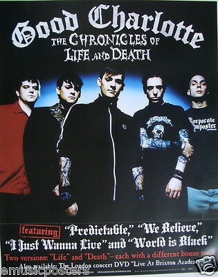 "GOOD CHARLOTTE ""THE CHRONICLES OF LIFE AND DEATH"" U.S. POSTER - Group Standing"