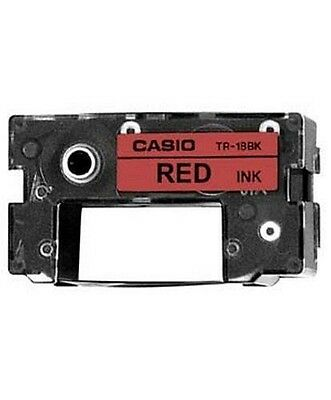 Casio TR-18RD Ruban d'impression 1 x rouge - Type de consommable:Ruban NEUF
