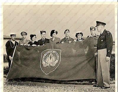 1949 NATO General Dwight EISENHOWER with the shape banner *Photo 25x21 cm