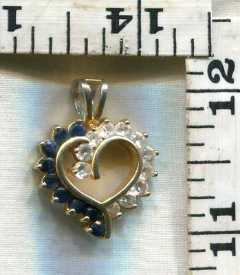 Vintage Sterling Pendant~Heart With Gems Around The Border~Yours For $14.99!!