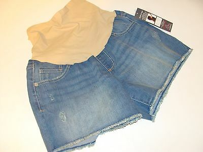 Maternity Oh Baby By Motherhood Denim Shorts Size L Large Women's  NEW