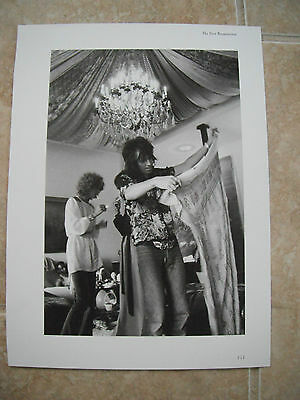 Rolling Stones Keith Richards Vtg Candid Coffee Table Book Photo #13