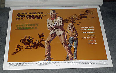 THE TRAIN ROBBERS original 1973 22x28 ROLLED movie poster JOHN WAYNE/ANN-MARGRET