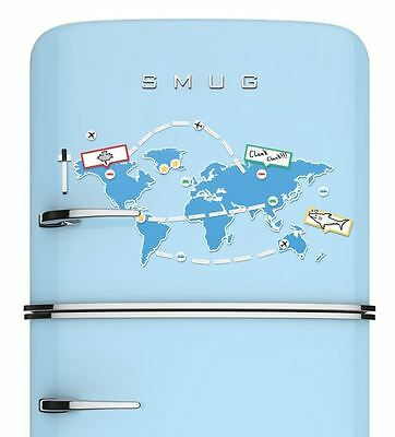 Luckies Mapnetic Dry Wipe Fridge Magnet World Map