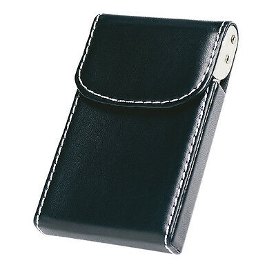 20 Cards PU Luxury Leather Credit ID Business Card Holder Pocket Wallet Box Clip