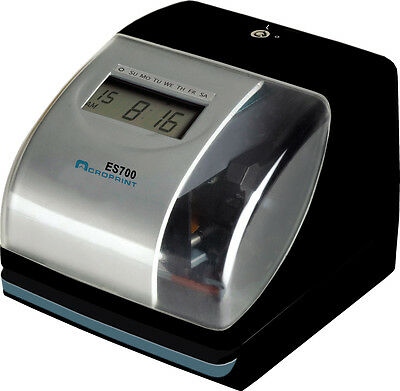 New Acroprint Es700 Time & Date Employee Recorder Clock, Atomic Time Sync