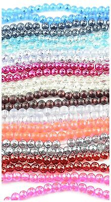 4mm Round Translucent Glass Drawbench Style Beads (100 pieces)