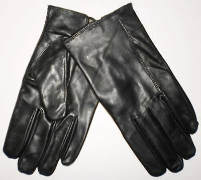 Mens Black leather gloves Small 365 free post Aust