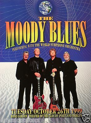 MOODY BLUES 1999 PORTLAND CONCERT TOUR POSTER - Group Standing With Guitars