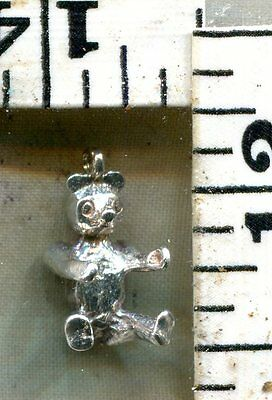 Vintage Sterling Bracelet Charm~3D~A Nice Solid Cast English Teddy Bear~$14.00!!