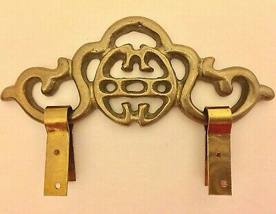 "4.5"" New Chinese Brass Picture Frame Hanger 1/8"" THICK Decorative Hardware"
