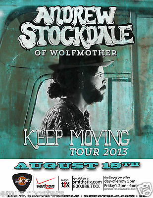 "ANDREW STOCKDALE ""KEEP MOVING TOUR"" 2013 SALT LAKE CONCERT POSTER - Wolfmother"