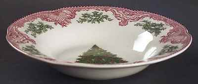 Johnson Brothers OLD BRITAIN CASTLES PINK CHRISTMAS Rimmed Soup Bowl 5979058