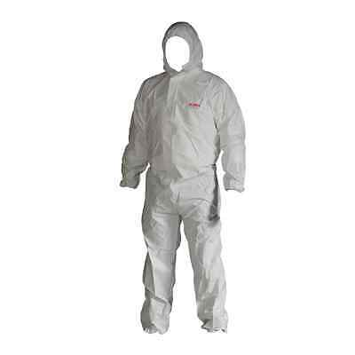 """5 Disposable Type 5 & 6 Coverall Heavy Duty Protective 42-44"""" Paint Spray Large"""