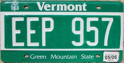 VERMONT Green Mountains License Plate - Random Letters - VT