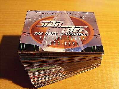 Star Trek Die Next Generation Saison Drei Komplett Basic Karte Set